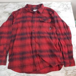 Columbia XL Plaid Button Up
